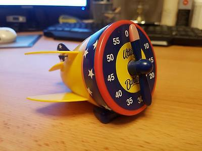 RARE Utterly Butterly Bi Plane Cooking Kitchen Timer Collectable / Fully Working