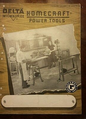 Vintage DELTA MILWAUKEE HOMECRAFT POWER TOOL 1952 CATALOG Price List 2 Brochures