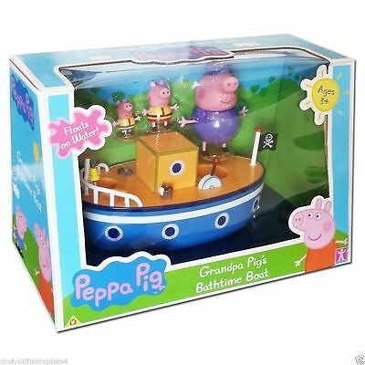 New Peppa Pig on Grandpa Pig's Boat With 6 sounds & Figures Age 3+ playset Dmged