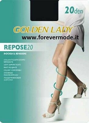 5 Collant donna Golden Lady in lycra velata riposante elasticizzato art Repose20