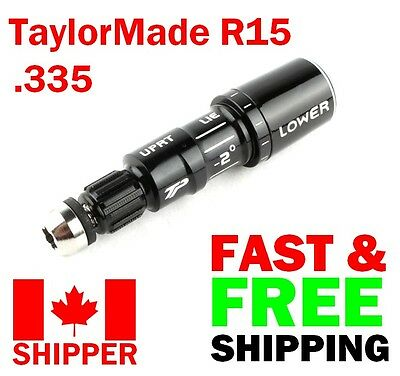 LH TaylorMade R15 / M1 .335 Adapter Sleeve (Black) Left Hand