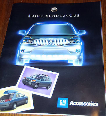 + 2002 BUICK RENDEZVOUS ACCESSORIES BROCHURE + 6 Pages + RARE CANADIAN ISSUE +