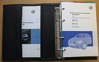 Vw Polo Gti Bluemotion Handbook Owners Manual Wallet 2005-2009 Pack 12071