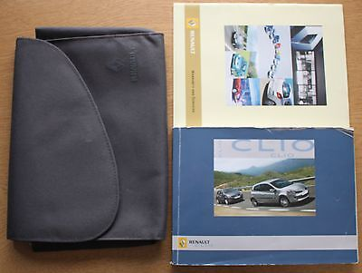 Renault Clio Iii 2005-2009 Owners Manual Handbook Wallet Pack 10882