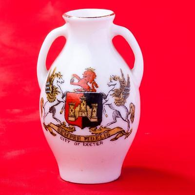 Goss Crested China Exeter Vase with Matching Exeter Crest