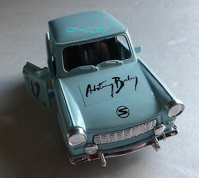 U2 ACHTUNG BABY OFFICIAL BLUE TRABANT CAR PROMO with plate DDR 1989