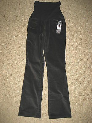 NEW Motherhood Oh Baby maternity womens small corduroy pants black over belly