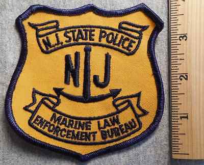 New Jersey State Police Marine Law Enforcement Patch (Highway Patrol, Sheriff)