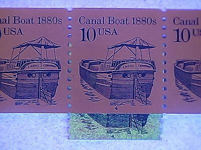 2257 10c Canal Boat #4 mint PS5 99.9% untagged