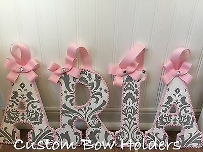 9 Inch Hanging Wall Letters - Carousel Designs Pink And Grey Damask Traditions
