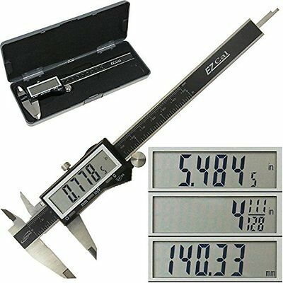 """iGaging IP54 Electronic Digital Caliper 0-6"""" Display Inch/Metric/Fractions Stain"""
