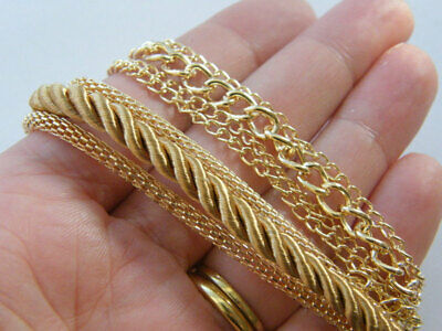 1 Multi layered gold plated braided bracelet NB22