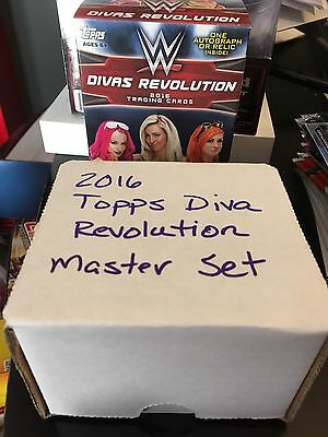 2016 Topps WWE Divas Revolution Complete 84 Card Master Set! Shipped In Box!