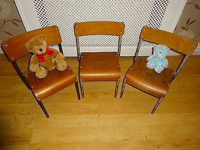 Childrens Vintage Retro Nursery School Stacking Chair - Lovely Condition