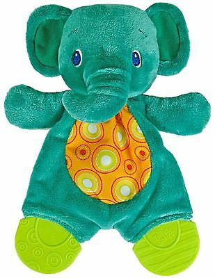 NEW Bright Starts Snuggle and Teethe Elephant Baby Teething Toy Rattle Crinkle