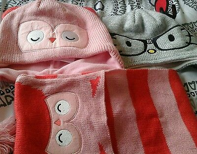 hat and scarf bundle girls age 4-8