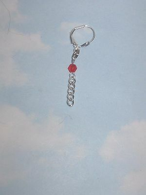 The Red  Bling Non Piercing Belly  Ring