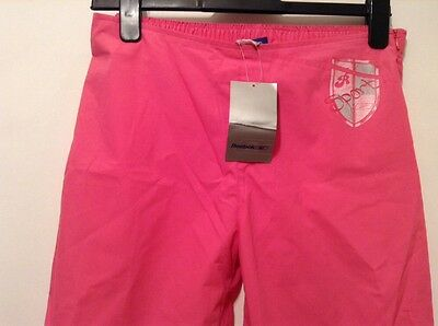 """BNWT """" Rebook """" Age 13 Girl Pink Tracksuit Bottom Pants 3/4 Length Trousers  New"""