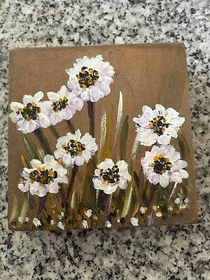 Folk Art Mini Wood Block Painting