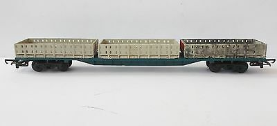 Hornby OO Bogie liner train freightliner wagon with 3x open containers - R632