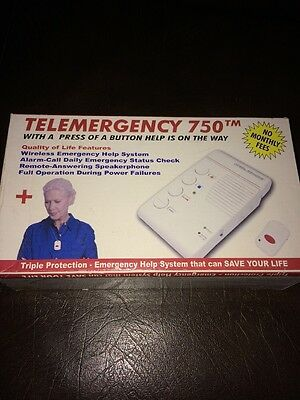 Telemergency Pro-Elite 750 w/ Wireless Pendant Feel Secure NEW No monthly fees