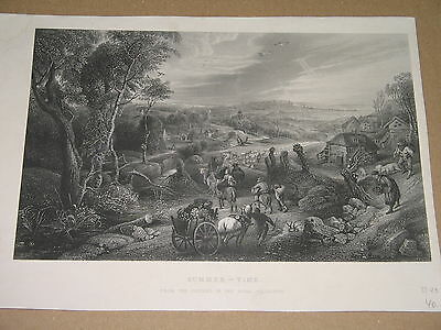 steel engraving SUMMER-TIME from the picture in the Royal Collection 26x16,5cm