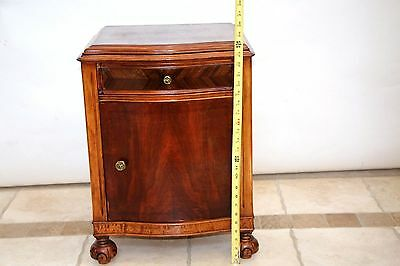 RARE Brand Mahogany Art Deco Antique 1920s  nightstand end table Drawer cabinet