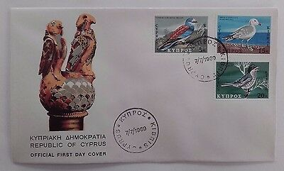 1969 CYPRUS Official First Day Cover set of 2 covers Cyprus Birds #1