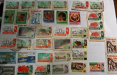 Job Lot Collection Old Bahamas Stamps