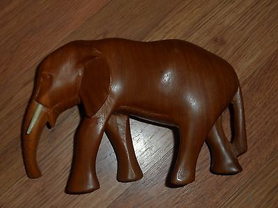wood hand carved elephant from Africa