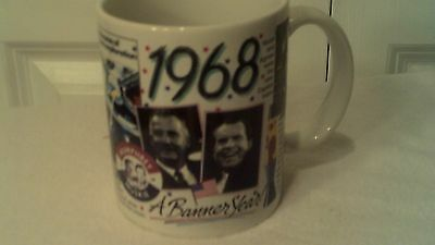 Collectable Cup With The Events Of 1968, By Peacock Paters,  Great Birthday Gift