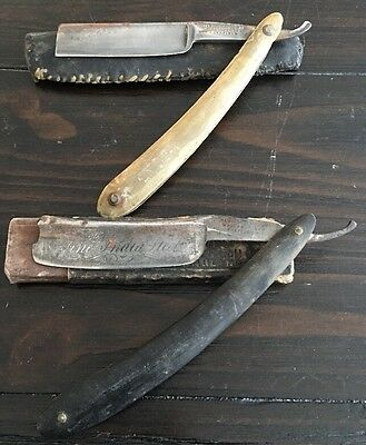 2 Antique Straight Razors WADE AND BUTCHER