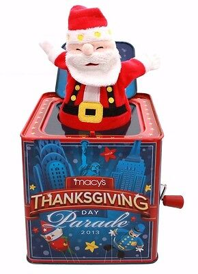 Macy's Thanksgiving Day Parade 2013 Collectible Santa Musical Jack In The Box