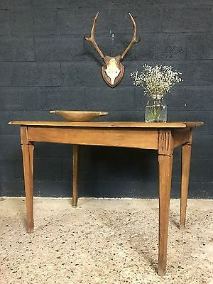 Lovely Vintage Antique French Country Farmhouse Oak Kitchen Dining Table