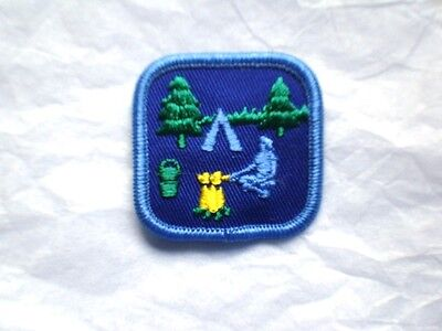 Girl Guide CAMP OUT Badge Patch Crest Guides Scouts Discontinued Campfire New