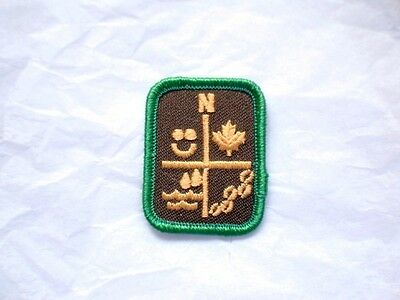 Brownies OUTDOOR EXPLORING Badge Patch Crest Girl Guides Scouts Discontinued