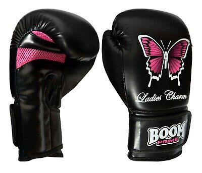 Ladies Pink Boxing Gloves Punch Bag Womens Gym Training MMA Mitts 8oz -14oz UFC