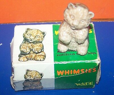 Wade  Whimsie Rare Baby Cub  With Own Box