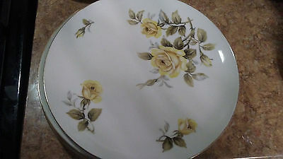 4 Harmony House Yellow Rose Fine China Dinner Plate