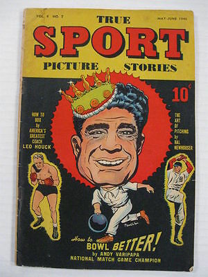 TRUE SPORT PICTURE STORIES V.4 #7 VG+ Bob Powell Art