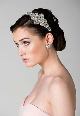 Bridal Headpiece Headband  Wedding Rhinestone Headpiece Handmade in Australia