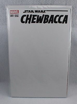 Marvel Comics Star Wars Chewbacca #001 Blank Cover Variant