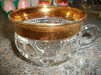 Vintage Indiana Kings Crown Gold Flashed Cup (Hard To Find)