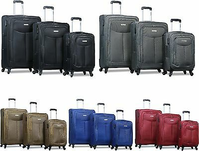 "Dejuno 3 Pcs ""Special Size"" Ultra Light Polyester Travel Suitcase / Luggage Set"