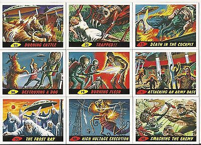 2012 Topps Mars Attacks Heritage- Full Set Of 55 + Deleted Scenes + New Universe