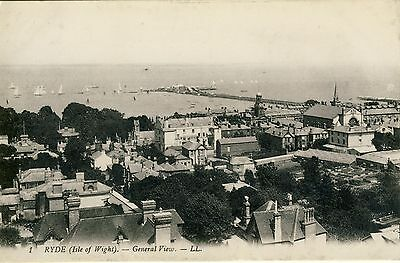 N 120 Early Ll Postcard Of Ryde, General View,isle Of Wight,1909, Ll 1.