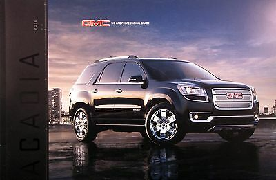 2016 GMC Acadia crossover new vehicle brochure
