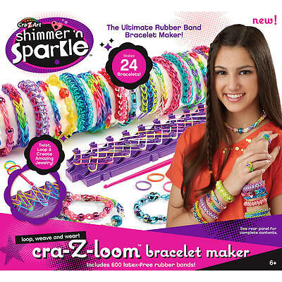 NWT Cra-Z-Loom Rubber Band Bracelet Maker Loop Weave and Wear