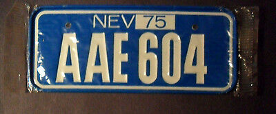 Vintage 1975 Nevada Post Cereal Mini Miniature Bicycle License Plate