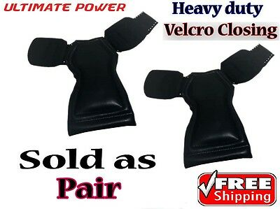 Versa Grips PRO Leather Weight Lifting Wrist Straps/Wraps Support GYM Trainning